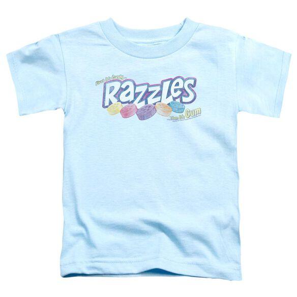 Dubble Bubble Distressed Logo Short Sleeve Toddler Tee Light Blue Lg T-Shirt