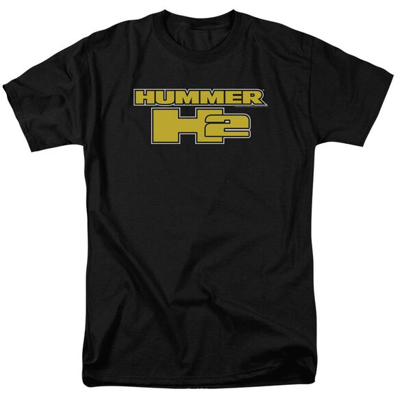 Hummer H2 Block Logo Short Sleeve Adult T-Shirt