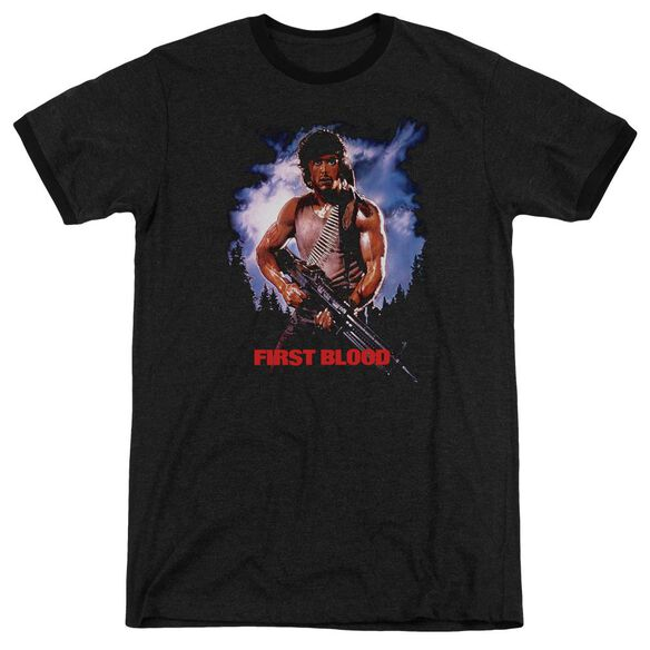 Rambo:First Blood Poster Adult Heather Ringer Black