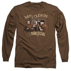 Three Stooges Why I Oughta Long Sleeve Adult T-Shirt