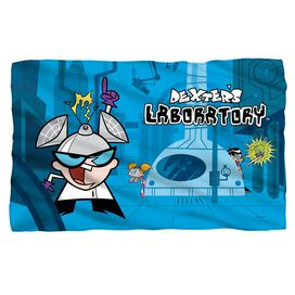 Dexters Lab Lab Fleece Blanket