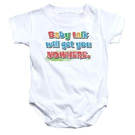Baby Talk Infant Snapsuit White Md