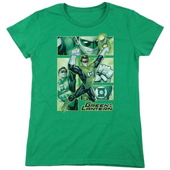 Jla Lantern Panels Short Sleeve Womens Tee Kelly T-Shirt