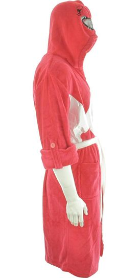 Power Rangers Red Ranger Mesh Masked Hooded Robe