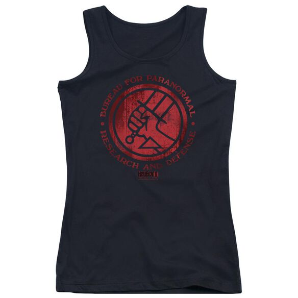 Hellboy Ii Bprd Logo Juniors Tank Top
