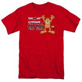 GARFIELD CAT MAN-S/S ADULT 18/1 - RED T-Shirt