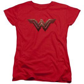 Wonder Woman Movie Wonder Woman Logo Short Sleeve Womens Tee T-Shirt
