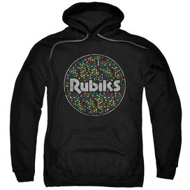 Rubiks Cube Circle Pattern Adult Pull Over Hoodie