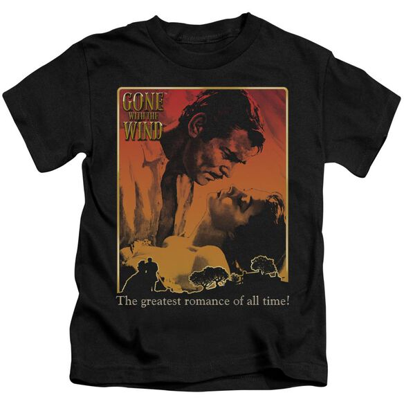 Gone With The Wind Greatest Romance Short Sleeve Juvenile Black T-Shirt
