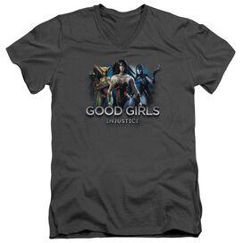 Injustice Gods Among Us Good Girls Short Sleeve Adult V Neck T-Shirt