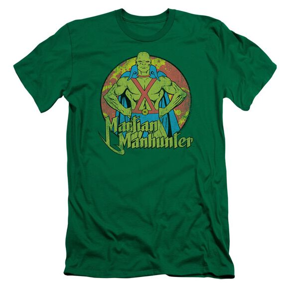 Dc Martian Manhunter Premuim Canvas Adult Slim Fit Kelly