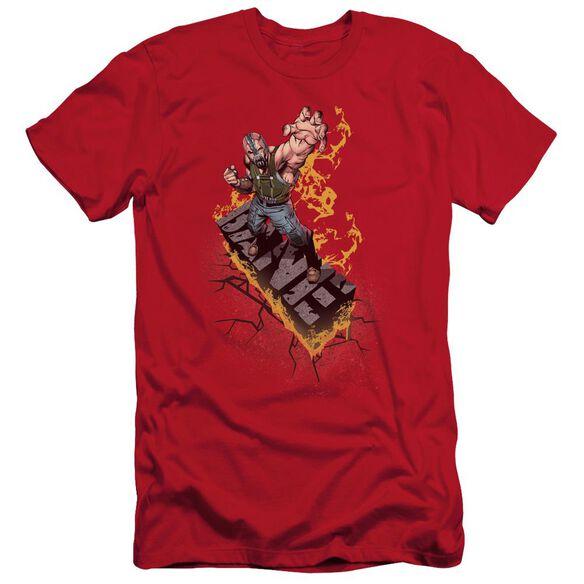 Dark Knight Rises Bane On Fire Short Sleeve Adult T-Shirt