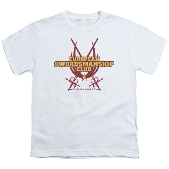 Star Trek Swordsmanship Club Short Sleeve Youth T-Shirt