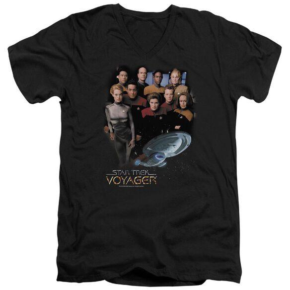 Star Trek Voyager Crew Short Sleeve Adult V Neck T-Shirt