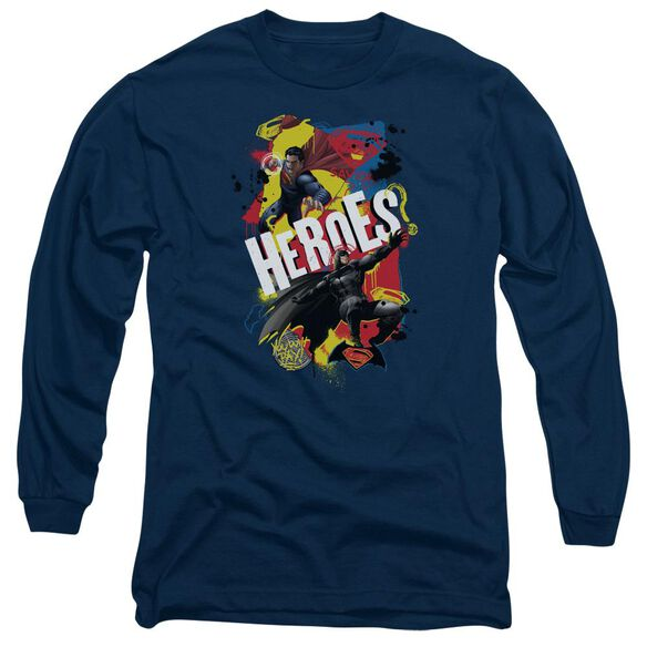 Batman V Superman Double Hero Long Sleeve Adult T-Shirt