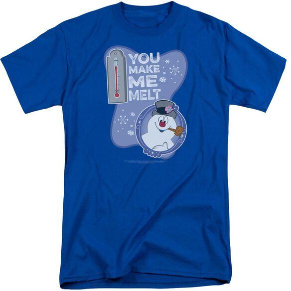 Frosty The Snowman Melt Short Sleeve Adult Tall Royal T-Shirt
