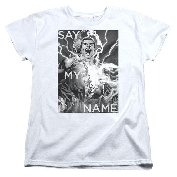 Jla Say My Name Short Sleeve Womens Tee T-Shirt
