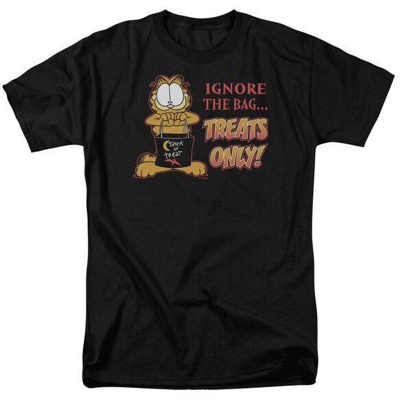 GARFIELD TREATS ONLY - S/S ADULT 18/1 - BLACK T-Shirt