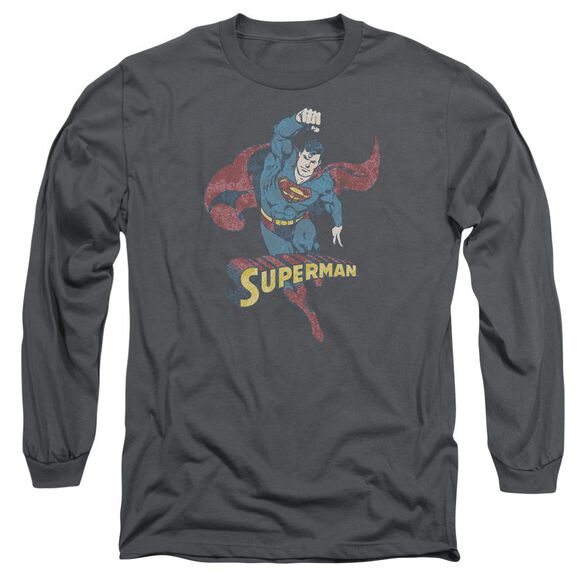 Dco Desaturated Superman Long Sleeve Adult T-Shirt
