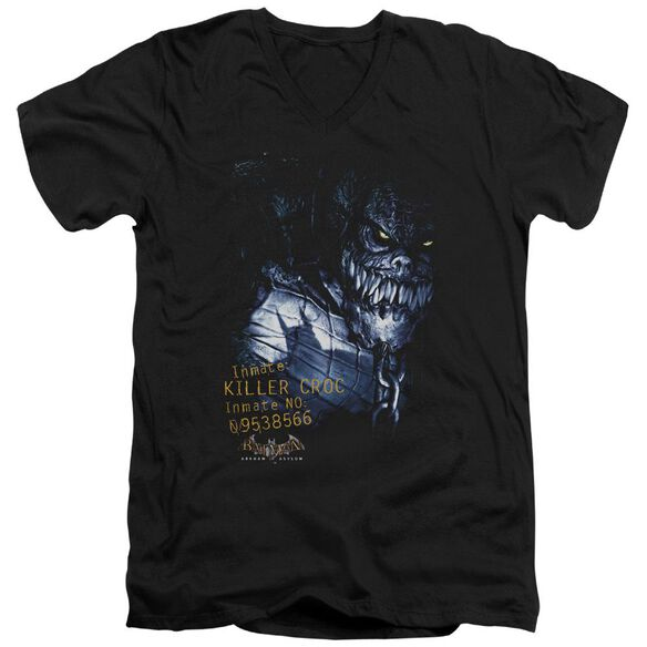 Batman Aa Arkham Killer Croc Short Sleeve Adult V Neck T-Shirt