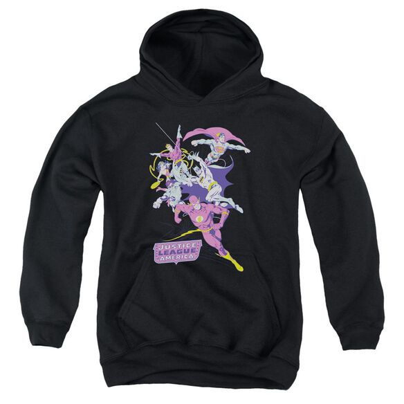 Jla Colorful League Youth Pull Over Hoodie