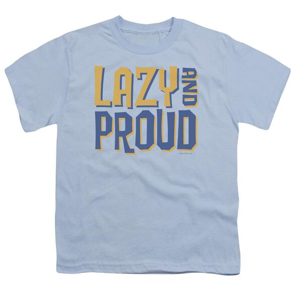 Lazy And Proud Short Sleeve Youth Light T-Shirt