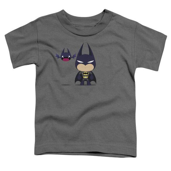 Batman Cute Batman Short Sleeve Toddler Tee Charcoal Lg T-Shirt