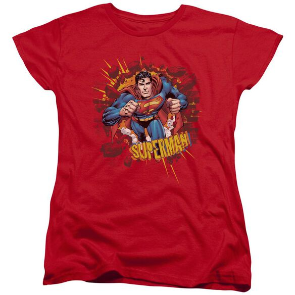 Superman Sorry About The Wall Short Sleeve Womens Tee T-Shirt
