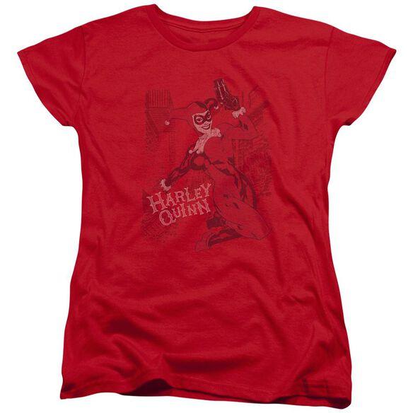 BATMAN HARLEYS PACKING - S/S WOMENS TEE - RED T-Shirt