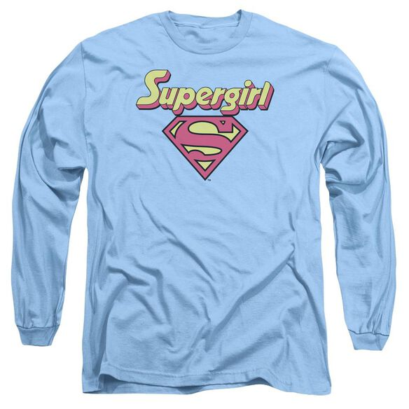 Dc I'm A Supergirl Long Sleeve Adult Carolina T-Shirt
