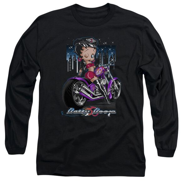 Betty Boop City Chopper Long Sleeve Adult T-Shirt