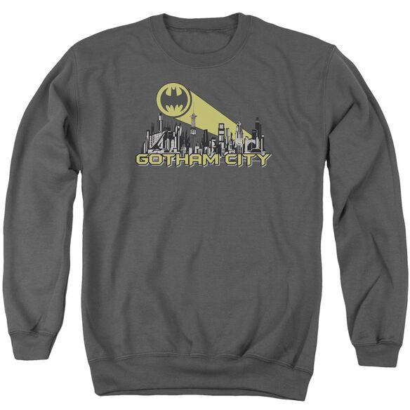 Batman Gotham Skyline Adult Crewneck Sweatshirt