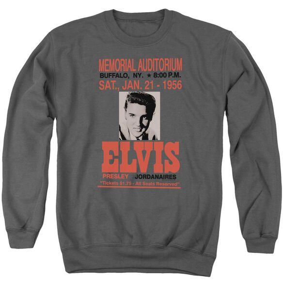 Elvis Buffalo 1956 Adult Crewneck Sweatshirt
