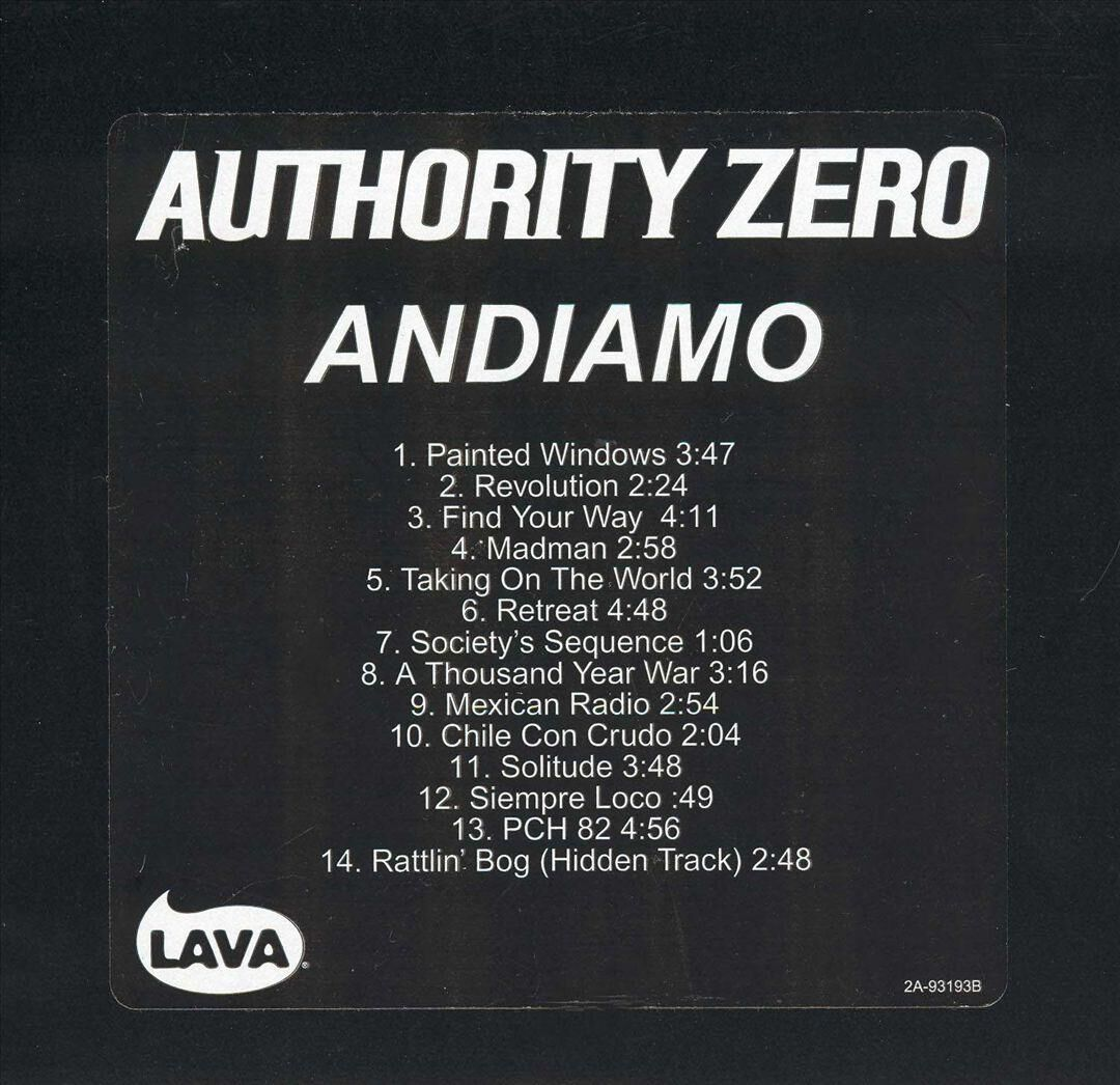 authority zero andiamo