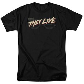 They Live Glasses Logo Short Sleeve Adult T-Shirt