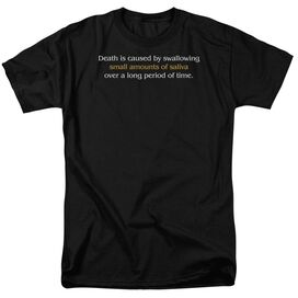 Death Caused By Saliva Short Sleeve Adult T-Shirt