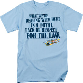SMOKEY AND THE BANDIT LACK OF RESPECT-S/S ADULT 18/1 - LIGHT BLUE T-Shirt