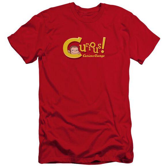 Curious George Curious Premuim Canvas Adult Slim Fit