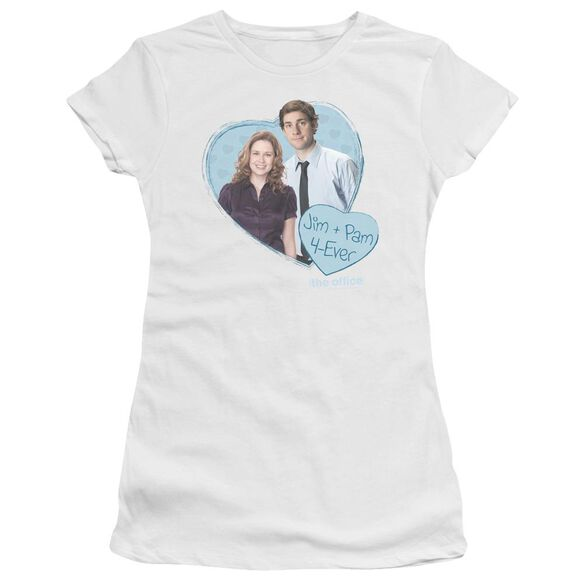 The Office Jim & Pam 4 Ever Short Sleeve Junior Sheer T-Shirt