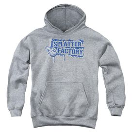 Graffic Splatter Youth Pull Over Hoodie Athletic