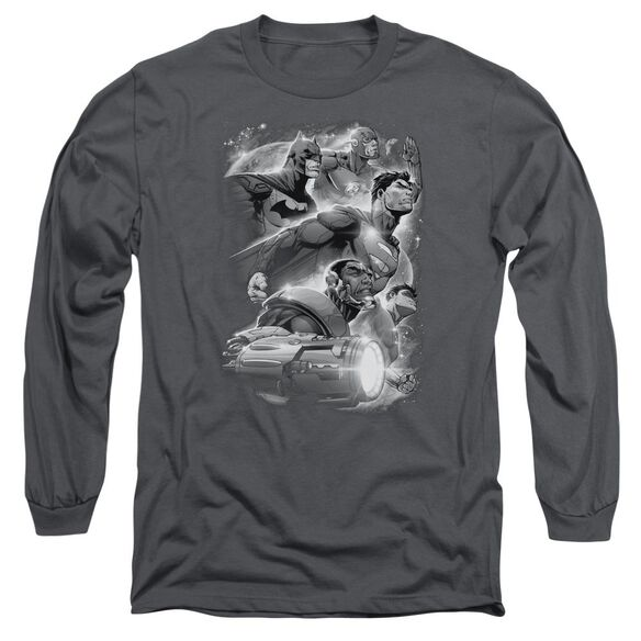 Jla Atmospheric Long Sleeve Adult T-Shirt