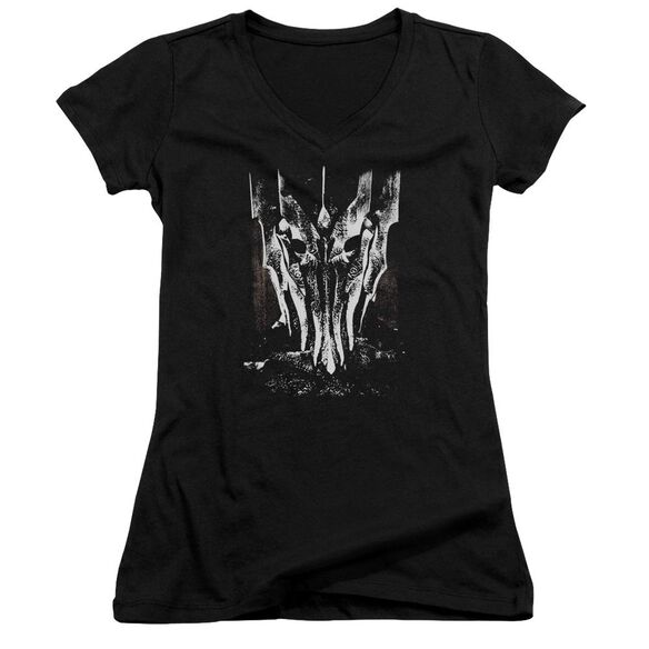 Lor Big Sauron Head Junior V Neck T-Shirt
