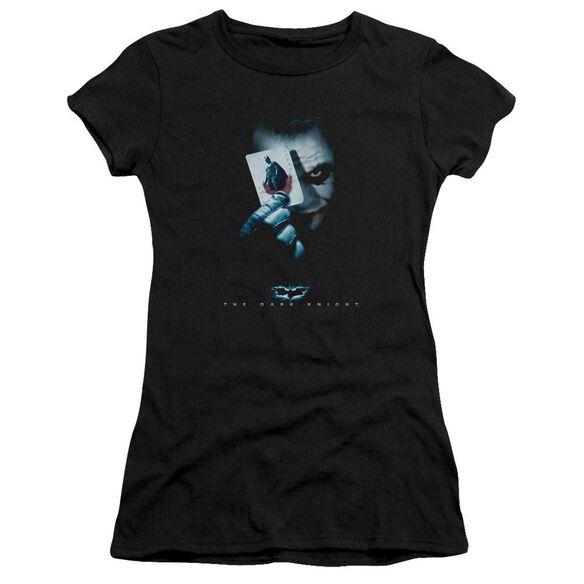 Dark Knight Joker Short Sleeve Junior Sheer T-Shirt