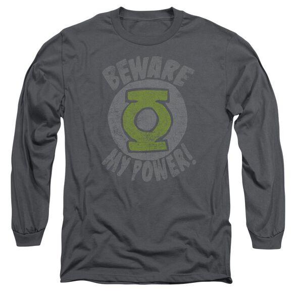 Green Lantern Beware Long Sleeve Adult T-Shirt