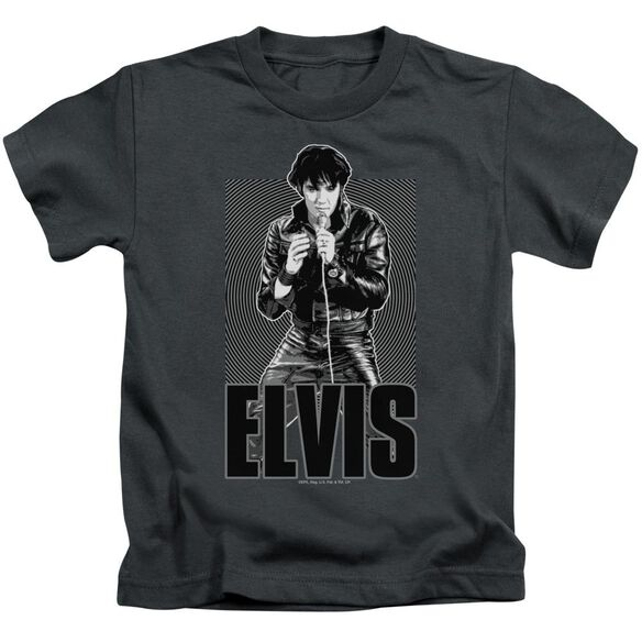Elvis Leather Short Sleeve Juvenile Charcoal T-Shirt