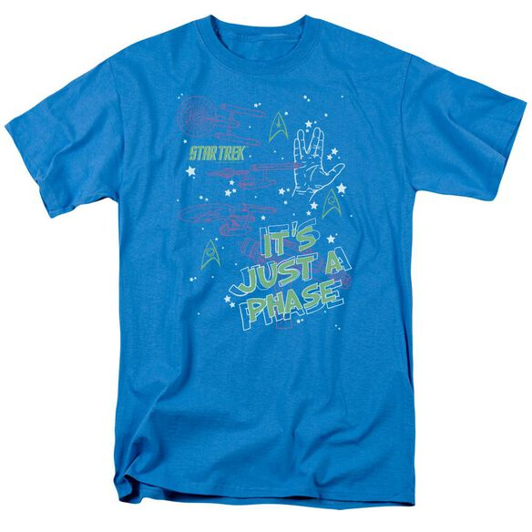 St Original Just A Phase Short Sleeve Adult Turquoise T-Shirt