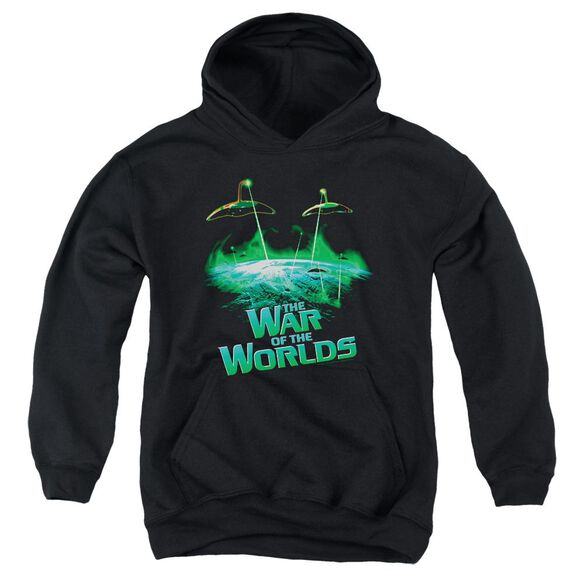 War Worlds Global Attack Youth Pull Over Hoodie