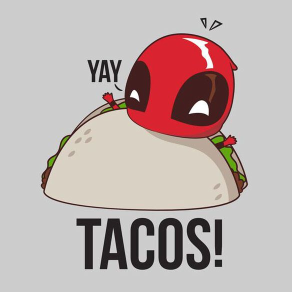 Exclusive Deadpool Yay Taco Ringer Juniors T-Shirt