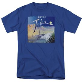 Zz Top Tejas Short Sleeve Adult Royal Blue T-Shirt