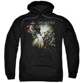 Injustice Gods Among Us Good Vs Evil Adult Pull Over Hoodie Black